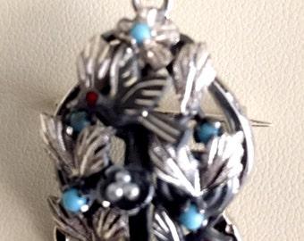 Handmade Silver Baroque Pendant/Brooch