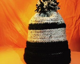 Crocheted Adult Sized Winter Beanie