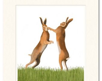 Limited edition giclee print. Bad Hare day.