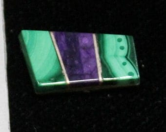 sugilite & malachite with sterling silver