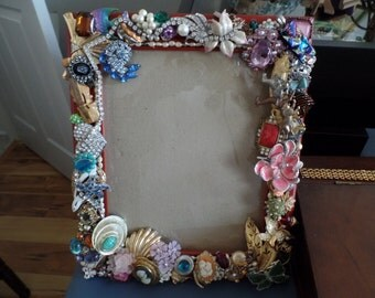 Jewel encrusted picture frame
