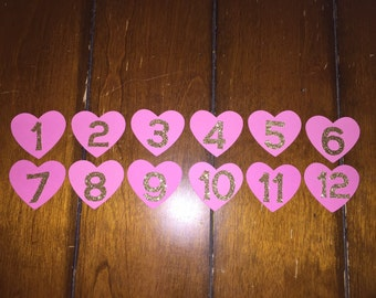 Pink & Gold 12 Month Photo Banner