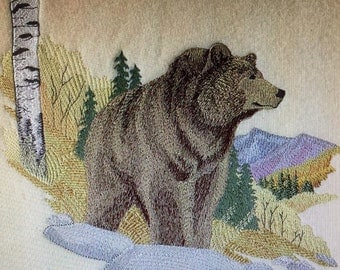 "Embroidered ""The Grizzly Bear"" Shirt"
