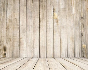 PolyPro Vinyl Photography Backdrop #1683 Light Wood & Floor--Available in many sizes!