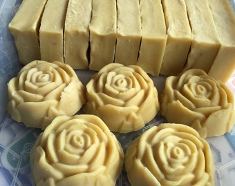 Goats Milk, Loofah and Rose Cold Process Soap