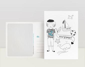 Carte postale « Bon Voyage »