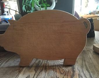 Vintage wood pig cutting board