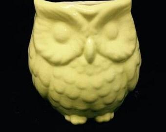 Ceramic Bisque Owl pencil holder