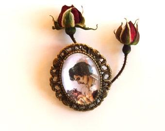 PIN fan art BBC Sherlock with ornaments, copper