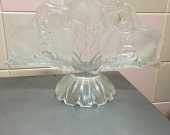 Uranium glass napkin or letter holder