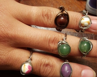 Hand wrapped rings
