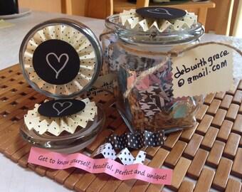 INSPIRING WORDS in a JAR