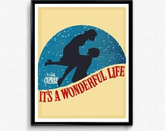 It's a Wonderful Life Poster, Christmas Poster, Minimalist Print