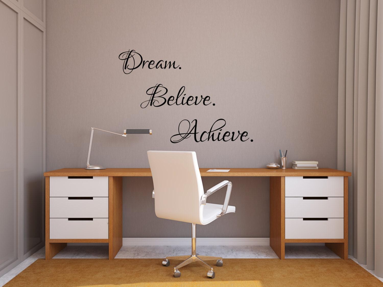 Dream believe achieve inspiring wall art success decal home 1 amipublicfo Images