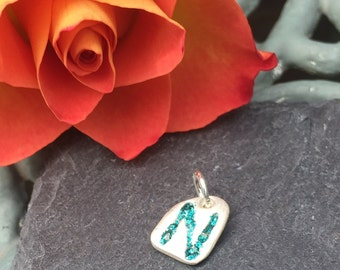 PMC Fine Silver - Enabel Coloured Personalised Initial Tag