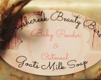 Baby Powder & Oatmeal premium goats milk soap