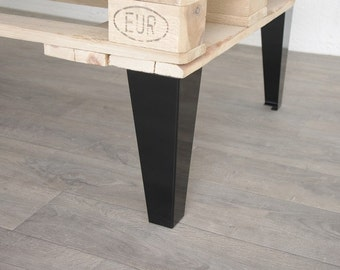 Feet of furniture style industrial 30cm black