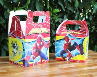 Spiderman Party Treat Box - Favor Box