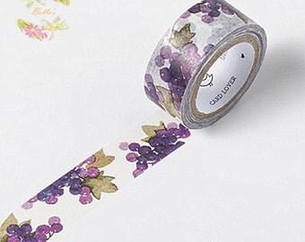 Purple Grape Washi Tape