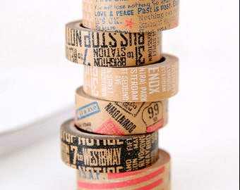 Vintage Style Kraft Paper Washi Tape