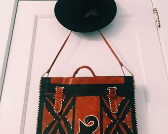genuine leather vintage bag