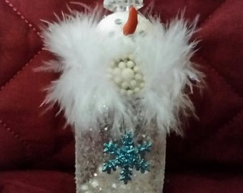 Glitter showgirl/altered salt shaker