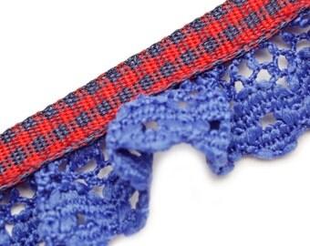 TM1229 tartan lace edging