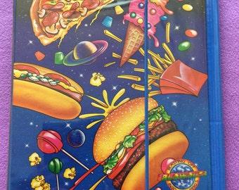 Lisa Frank vintage 1989 junk food tri-fold binder