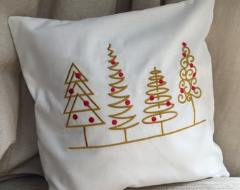 Embroidered Cushion Covers - Christmas Tree design