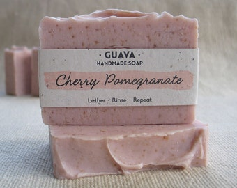 Cherry Pomegranate|Handmade|Cold Process|Natural|Palm Free|Vegan|Shea Butter|Cocoa Butter