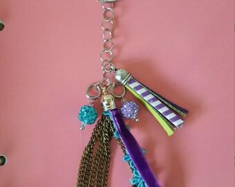 Purple & Turquoise Charm