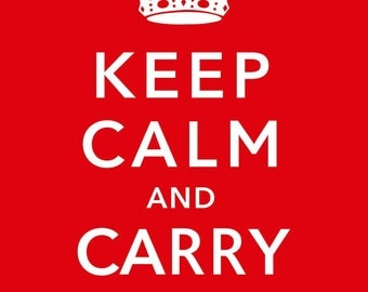 Keep Calm and Carry On Propaganda Poster Art, Vintage Style Wall Decor Reproduction Print