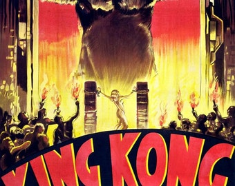 King Kong Vintage Fay Wray Horror Movie Film Poster Print Art Picture A3 A4