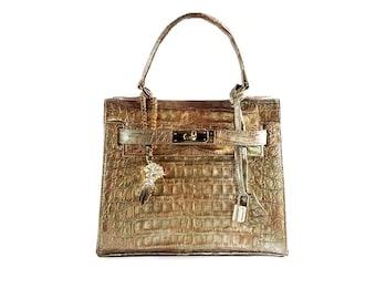 """Bag """"Poveglia"""" in Cayman Green Gold"""