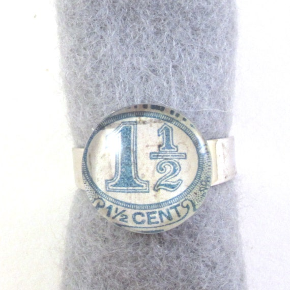 Postage stamp ring