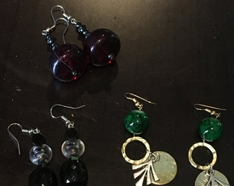 Chunky earrings set of 3