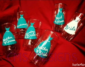 """Wedding Party """"Tervis-Style"""" Tumblers"""
