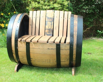 Oak Scotch Whisky Barrel Garden Chair