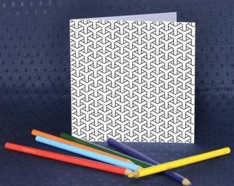 Basket Weave Greetings Card