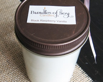 Black Raspberry Vanilla 8 oz soy candle