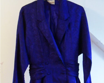 Vintage Royal Blue Blazer (1980s)