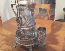 Pairpoint Quadruple Plate - Silver Tilting Water Pitcher 1800's