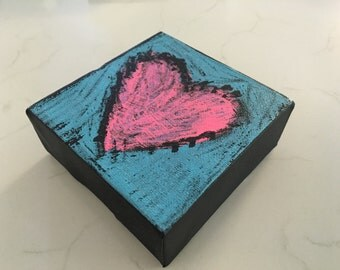 Acrylic Heart Canvases