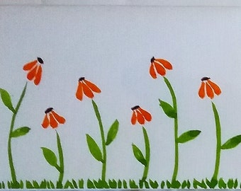 Cards - flowers, set of 4