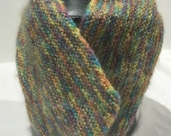 Hand Knitted Cowl - Mohair