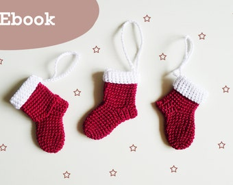 Crochet Christmas boots, eBook crochet pattern Christmas