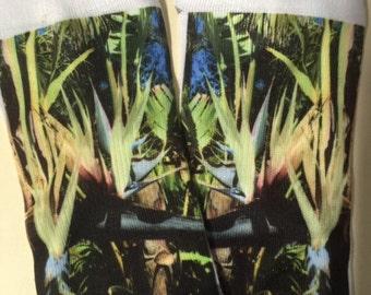 Tropical print socks