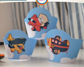 Wrappers and toppers aircraft and bears