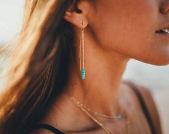 Jala Turquoise Threader Earrings