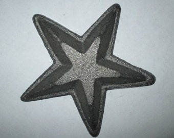 Rustic Primitive Cast Iron Star for Fence Barn Wall Decor Crafting ~ 3 5/8""